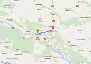 Trasa Toruń - Lubicz Dolny