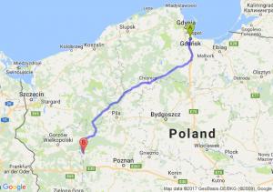 Gdańsk (pomorskie) - Międzychód (wielkopolskie)