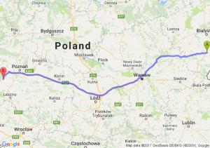 Bielsk Podlaski (podlaskie) - Grodzisk Wielkopolski (wielkopolskie)