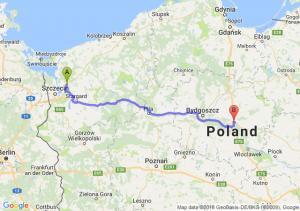 Trasa Goleniów - Lubicz Dolny