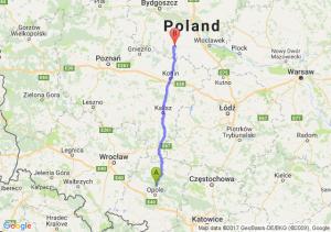 Opole (opolskie) - Kruszwica (kujawsko-pomorskie)