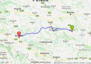 Trasa Radom - Wrocław