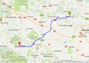 Brzeg Dolny (dolnośląskie) - Jelenia Góra (dolnośląskie)