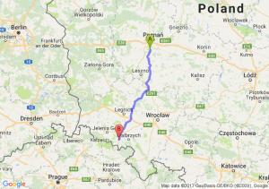 Mosina (wielkopolskie) - Kamienna Góra (dolnośląskie)