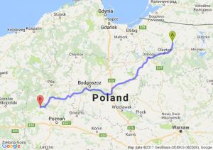 Jeziorany (warmińsko-mazurskie) - Wronki (wielkopolskie)