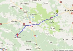 Trasa Blachownia - Zawadzkie