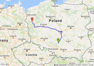 Trasa Częstochowa - Gorzów Wielkopolski