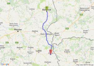 Białystok (podlaskie) - Chełm (lubelskie)