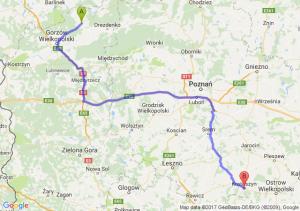 Strzelce Krajeńskie (lubuskie) - Krotoszyn (wielkopolskie)