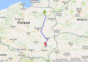 Biała Piska (warmińsko-mazurskie) - Nisko (podkarpackie)