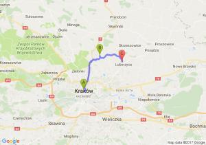 Kraków (małopolskie) - Michałowice (małopolskie) - Baranówka (małopolskie)