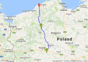 Środa Wielkopolska (wielkopolskie) - Jastrowie (wielkopolskie) - Sławno (zachodniopomorskie)
