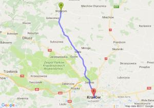 Wolbrom (małopolskie) - Kraków (małopolskie)