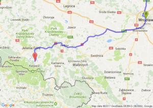 Poznań (wielkopolskie)ul. Ptaszkowska - Wrocław (dolnośląskie) - Miłków (dolnośląskie)