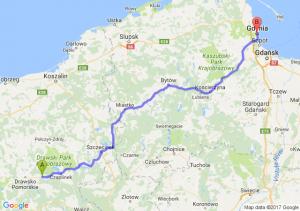 Złocieniec (zachodniopomorskie) - Gdynia (pomorskie)