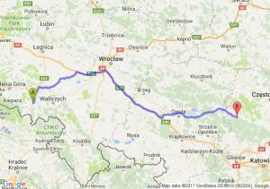 Kamienna Góra (dolnośląskie) - Lubliniec (śląskie)