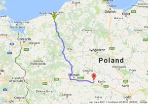 Białogard (zachodniopomorskie) - Słupca (wielkopolskie)