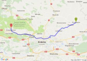 Proszowice (małopolskie) - Krzeszowice (małopolskie)
