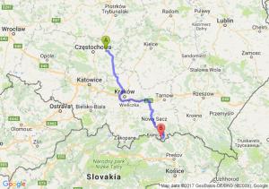 Wola Mokrzeska (śląskie) - Muszyna (małopolskie)