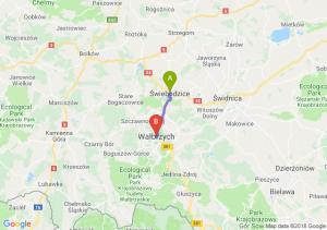 Trasa Świebodzice - Wałbrzych