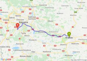 Trasa Kraków - Mikołów