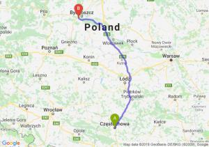 Trasa Częstochowa - Białe Błota