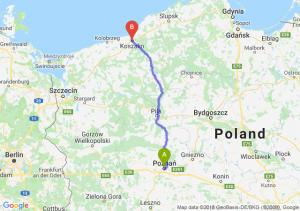 Trasa Poznań - Koszalin