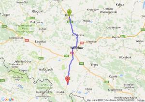 Rawicz (wielkopolskie) - Ząbkowice Śląskie (dolnośląskie)