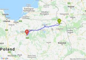 Trasa Suwałki - Olsztynek