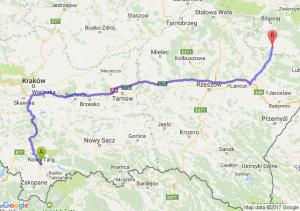 Nowy Targ (małopolskie) - Tarnogród (lubelskie)