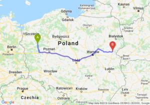 Trasa Drezdenko - Siemiatycze