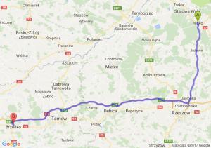 Nisko (podkarpackie) - Brzesko (małopolskie)