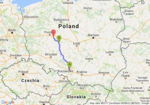 Zabrze (śląskie) - Pleszew (wielkopolskie) - Środa Wielkopolska (wielkopolskie)