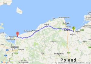 Nowy Dwór Gdański (pomorskie) - Kamień Pomorski (zachodniopomorskie)