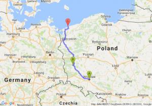 Wroclaw - Zielona Gora - Rewal (zachodniopomorskie)