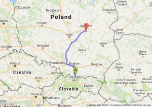 Nowy Targ (małopolskie) - Piaseczno (mazowieckie)