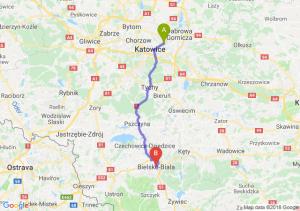 Trasa Sosnowiec - Bielsko-Biała