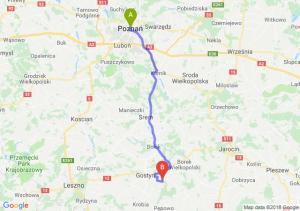Trasa Poznań - Piaski