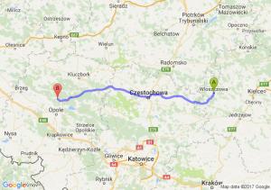 Włoszczowa (świętokrzyskie) - Opole (opolskie)