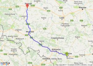 Skawina (małopolskie) - Mosina (wielkopolskie)