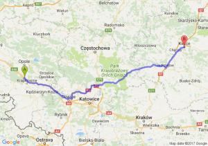 Trasa Dąbrówka Górna - Kielce