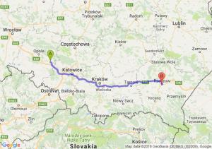 Trasa Strzelce Opolskie - Rzeszów