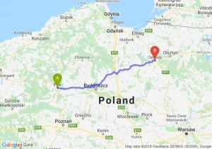 Trasa Piła - Ostróda