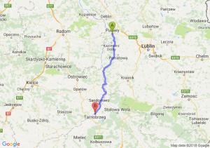 Trasa Puławy - Tarnobrzeg