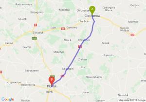Trasa Ciechanów - Płońsk