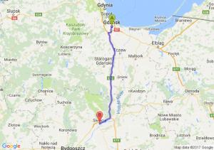 Gdańsk (pomorskie) - Świecie (kujawsko-pomorskie)