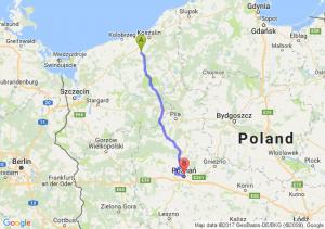 Białogard (zachodniopomorskie) - Poznań (wielkopolskie)