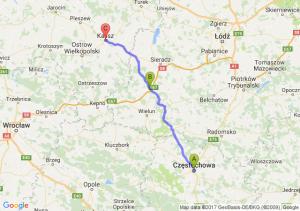 Częstochowa (śląskie) - Złoczew (łódzkie) - Kalisz (wielkopolskie)