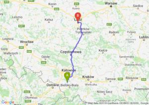 Trasa Pszczyna - Łódź
