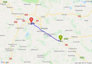 Trasa Piaski - Lublin